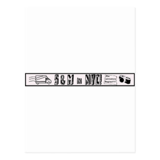 ¡S and M NYC! Logotipo Tarjetas Postales