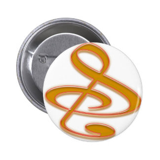 """""""S"""", """"&"""", And/Or Treble Clef Musical Note Pins"""