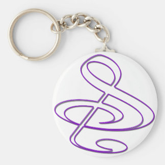 """S"", ""&"", And/Or Treble Clef Musical Note Keychain"