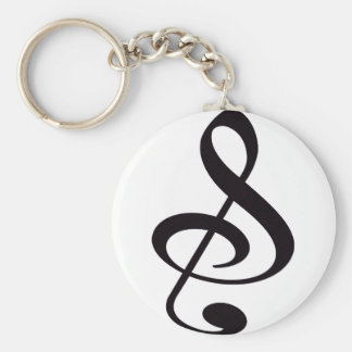 """""""S"""", """"&"""", And/Or Treble Clef Musical Note Keychain"""