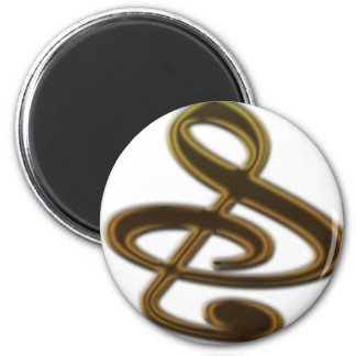 """S"", ""&"", And/Or Treble Clef Musical Note Magnets"