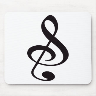 """""""S"""", """"&"""", And/Or Treble Clef Musical Note Mouse Pad"""