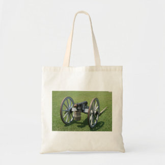 S. Augustine Fort canon II against grass Canvas Bags