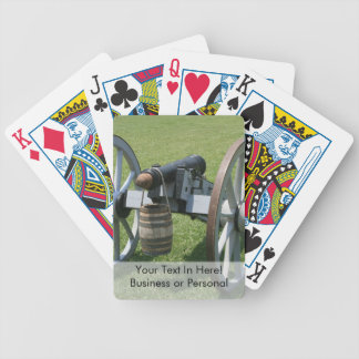 S. Augustine Fort canon II against grass Bicycle Playing Cards