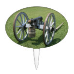 S. Augustine Fort canon II against grass Oval Cake Topper