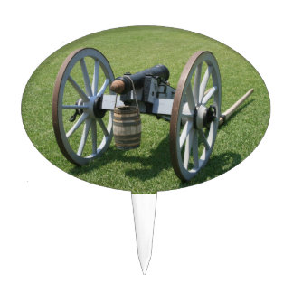 S. Augustine Fort canon II against grass Cake Topper