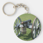 S. Augustine Fort canon II against grass Key Chain