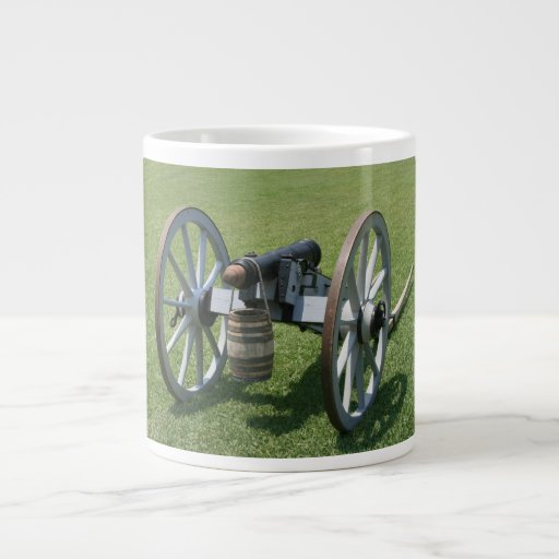 S. Augustine Fort canon II against grass Large Coffee Mug