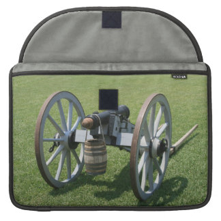 S. Augustine Fort canon II against grass MacBook Pro Sleeve