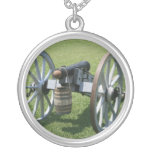 S. Augustine Fort canon II against grass Custom Necklace