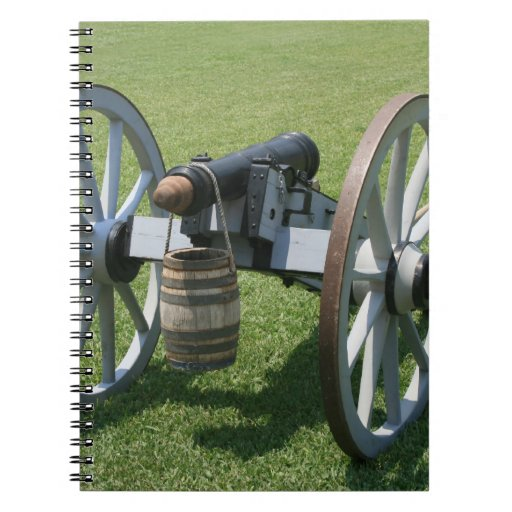 S. Augustine Fort canon II against grass Note Book