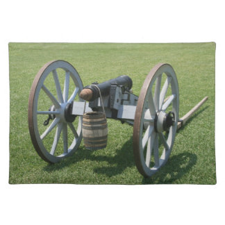 S. Augustine Fort canon II against grass Placemat