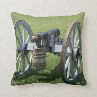 S. Augustine Fort canon II against grass Throw Pillow