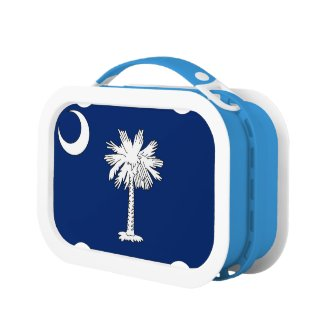 S.C. Flag Yubo Lunchbox, Blue Lunch Box