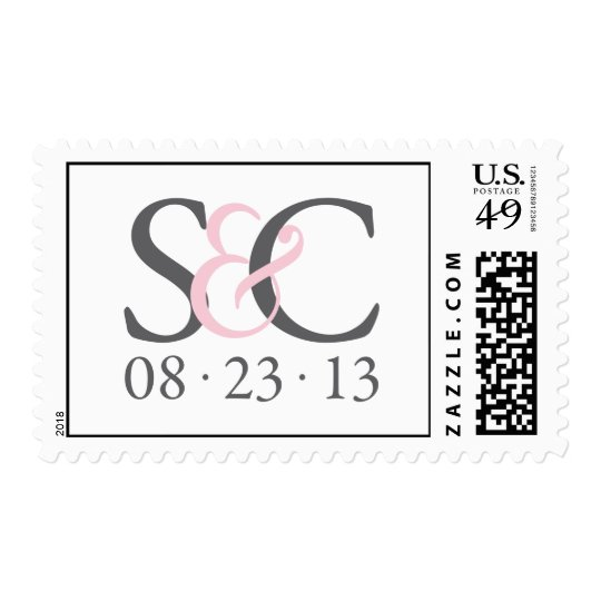 S&C grey and pink stamp