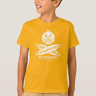 S&C Hotdog Kids on Dark Apparel T-Shirt