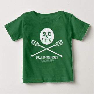 S&C Lacrosse Baby on Dark Apparel Baby T-Shirt