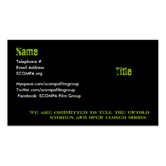 S.C.O.M.P.A. Business Cards