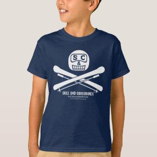 S&C Skiing Kids on Dark Apparel T-Shirt