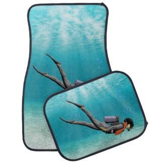S.C.U.B.A. Diver Car Floor Mat