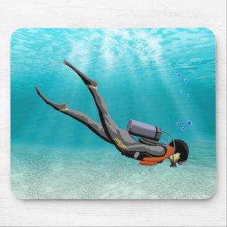 S.C.U.B.A. Diver Mouse Pad