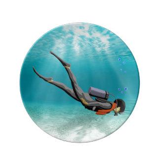 S.C.U.B.A. Diver Plate