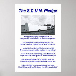 S.C.U.M. Pledge Poster