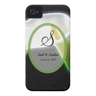 S Calla Lily Monogram Blackberry case