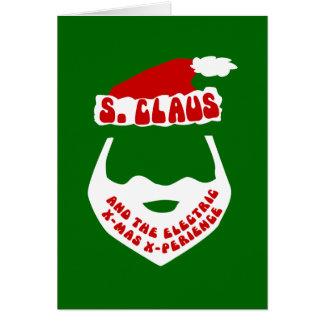 S. Claus y Navidad eléctrica X-Perience Tarjeta De Felicitación