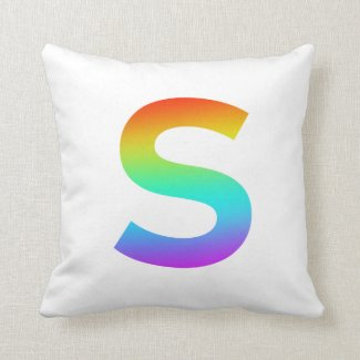 S (Color) Throw Pillow