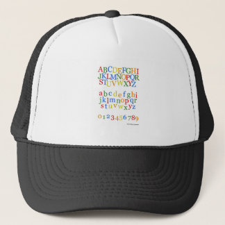 s Colorful Alphabet Upper + Lower Case Trucker Hat