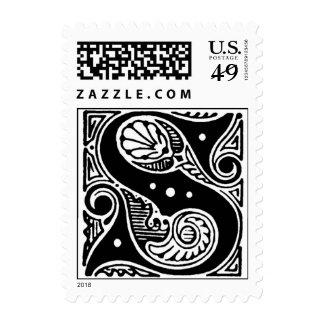 S de la letra de molde de lujo ' timbres postales