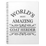 ` S del mundo la mayoría del pastor asombroso de l Libro De Apuntes Con Espiral