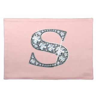 """S"" Diamond Bling American MoJo Placemat"