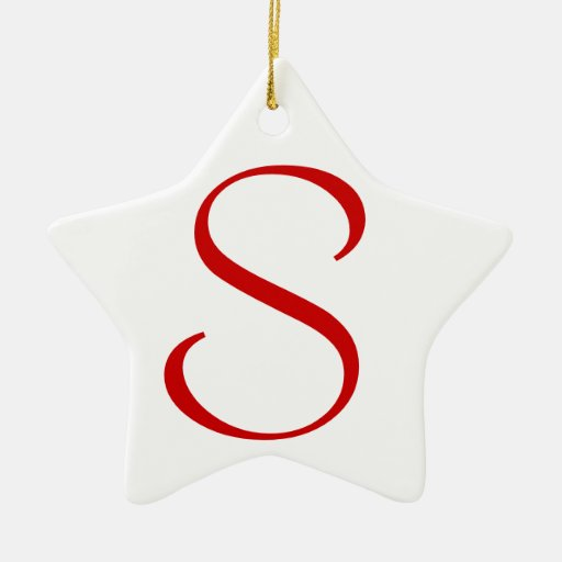 S Double-Sided STAR CERAMIC CHRISTMAS ORNAMENT