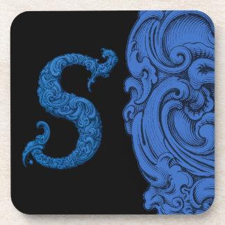 S - El alfabeto de Falck (azul) Posavasos