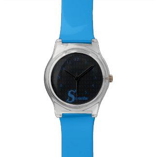 S - El alfabeto de Falck (azul) Relojes De Pulsera