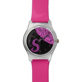 S - El alfabeto de Falck (rosa) Relojes De Mano