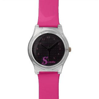 S - El alfabeto de Falck (rosa) Relojes De Pulsera