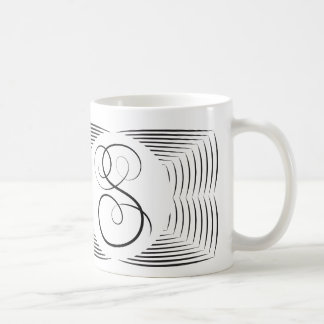 S Elegant Monogram Mug