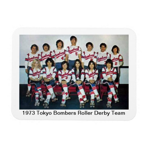 S: Equipo 1973 de Derby del rodillo de los bombard Imanes Rectangulares