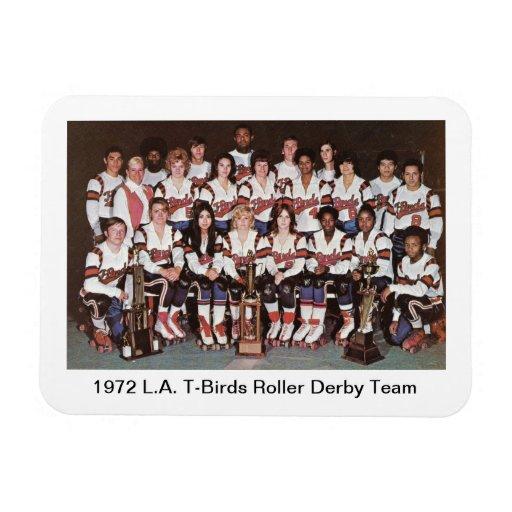 S: Equipo de 1972 L.A.T-Pájaro Roller Derby (4x3) Imán