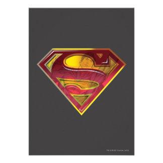 S-Escudo de la reflexión del superhombre Invitacion Personalizada