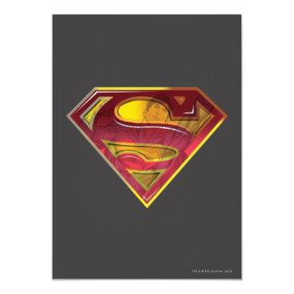 """S-Escudo de la reflexión del superhombre Invitación 5"""" X 7"""""""