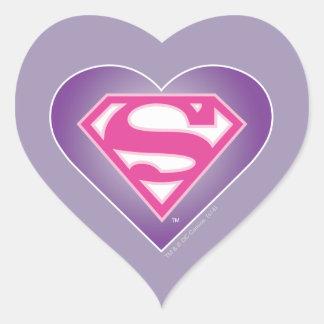 S-Escudo de Purple Heart Pegatina En Forma De Corazón