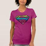S-Escudo del arco iris Camisas