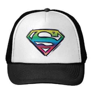 S-Escudo del arco iris Gorros Bordados