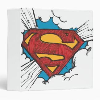 """S-Escudo el   del superhombre dentro del logotipo Carpeta 1 1/2"""""""