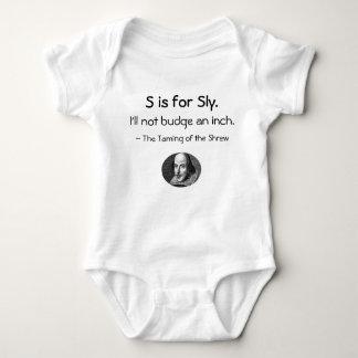 S está para astuto • Un pequeño Shakespeare poca Polera