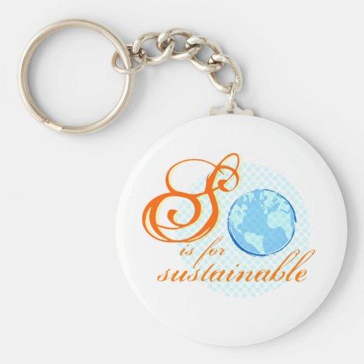 S está para el llavero sostenible